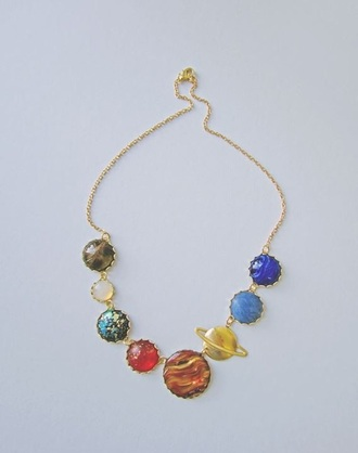 jewels space gold necklace