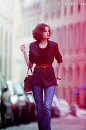 jacket,black,classy,chic,bag,belt