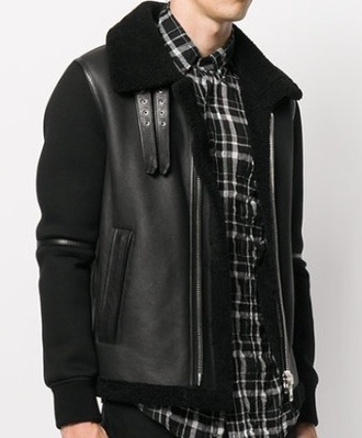 jacket black shearling jacket