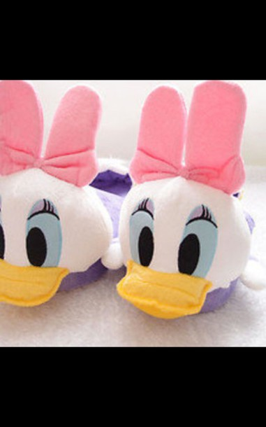 shoes slippers donald duck t-shirt
