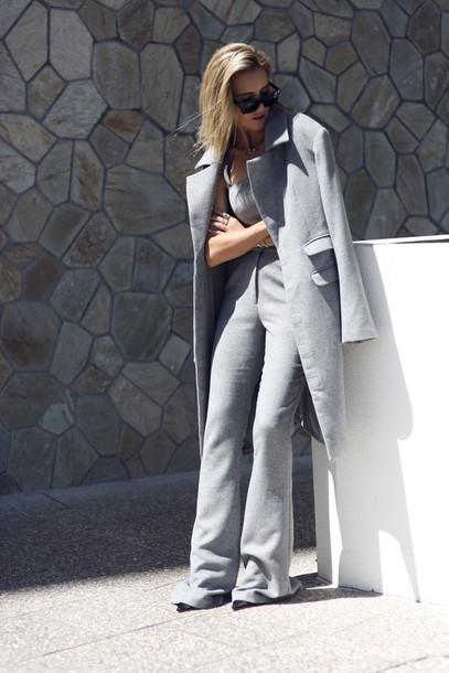 oracle fox blogger coat pants bag sunglasses shoes jewels