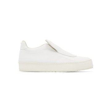 shoes white sneakers slip on sneakers maison margela