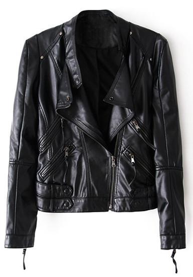 Zip sleeves moto jacket