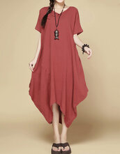 dress,buddhist red dress,sundress,maxi dress