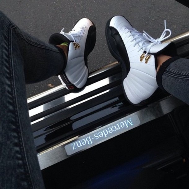 shoes taxi 12s jordans girls sneakers taxi jordans a little bit of black swag black nike air jordans nike sneakers air jordan air jordan white gold style mercedes benz white sneakers black and white sporty
