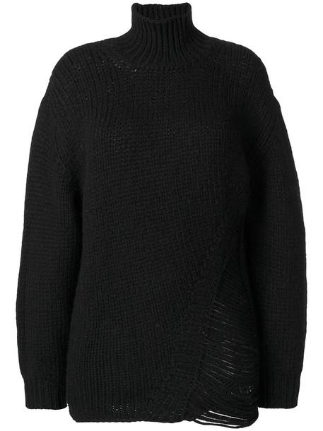 Iro jumper women turtle black wool sweater