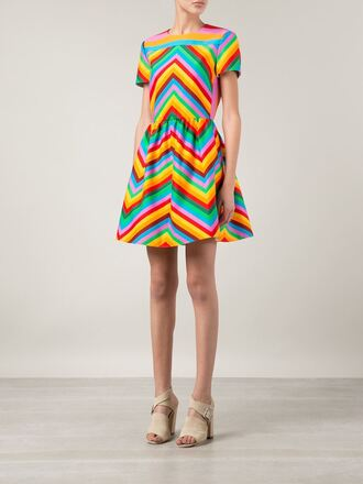 dress zig zag a-line dress valentino