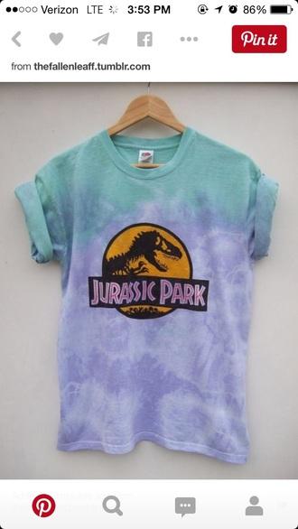 shirt tie dye tie dye shirt jurassic park graphic tee