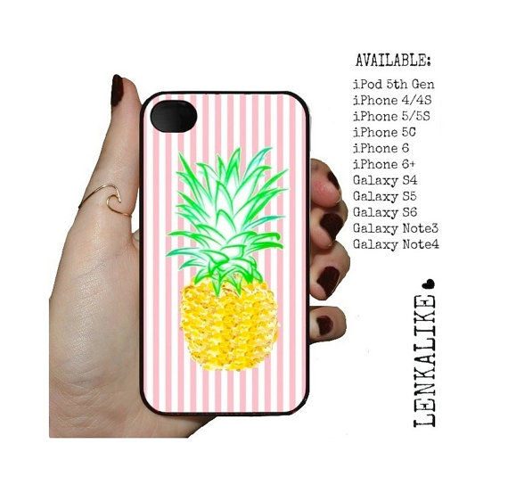 size 40 3cfc2 483ea Phone Case Pink Pineapple For iPhone 4, iPhone 5, iPhone 5c, iPhone 6,  iPhone 6 Plus, Galaxy S4, Galaxy S5, Galaxy S6, Galaxy Note
