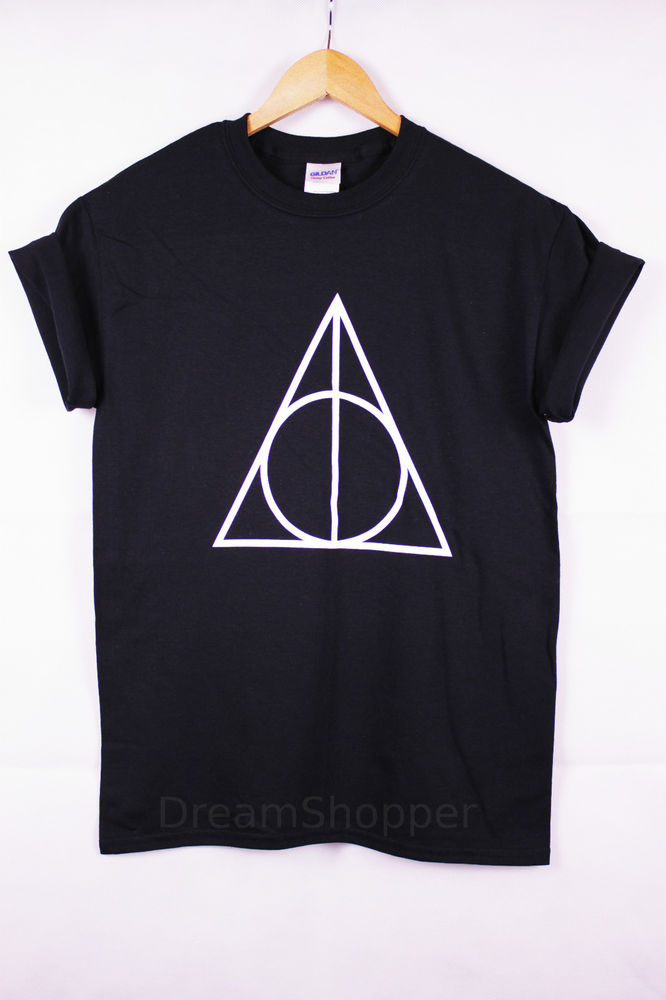 New Unisex Harry Potter Deathly Hallows Printed T-shirt Very Stylish | eBay