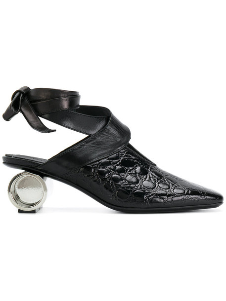 heel ballet women shoes leather black