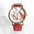 Cherry Blossoms Floral Watch, Vintage Style Leather Watch, Women Watches, Boyfriend Watch, Genuine Leather