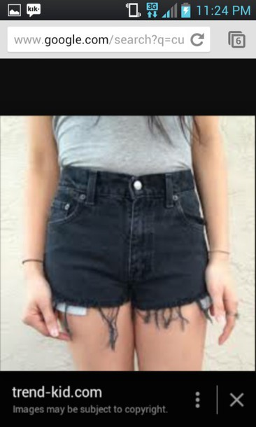 shorts black High waisted shorts