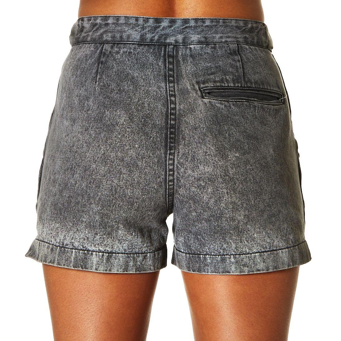 Nike Acid Wash Denim Shorts Black