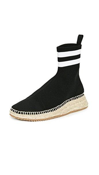 Alexander Wang high knit white black shoes