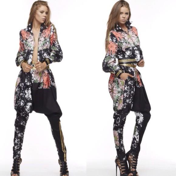 fashion pants jumpsuit jacket harem pants two-piece