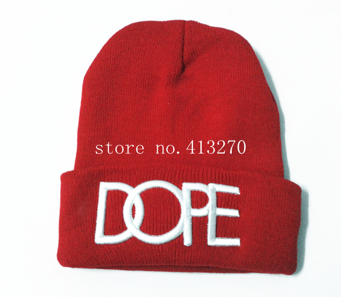 New Hot Cool Boy Men s DOPE Beanie Hat Autumn Winter Knit Cotton Skull Warm  Cap Hiphop ... 97e41b7f70a
