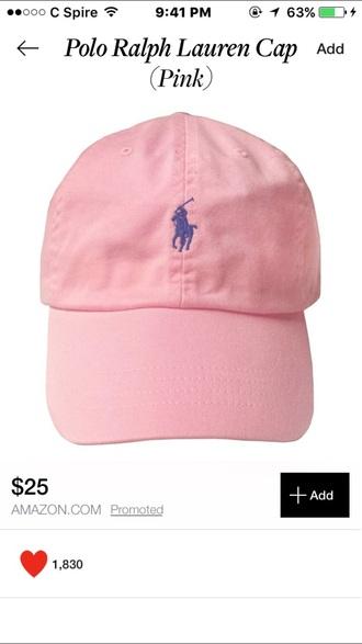 hat cap polo hat polo cap pink hat pink cap pink polo shirt ralph ralph lauren ralph lauren polo