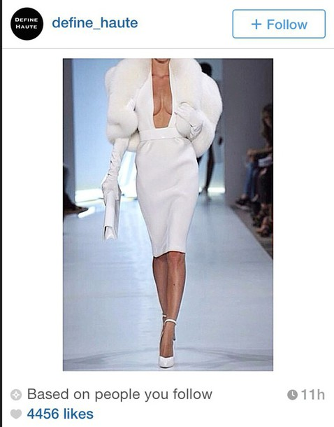 dress fur white gloves shiny leather haute gorgeous dolce and gabbana instagram