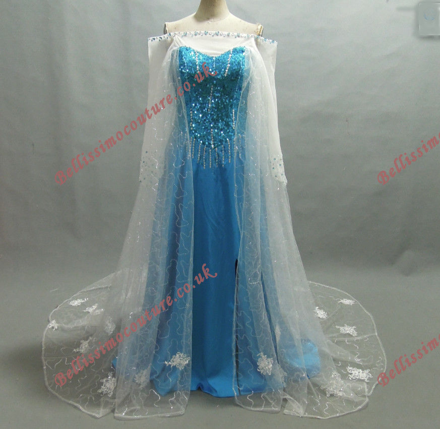 Disney Princess Frozen Queen Elsa Costume adult SIZE 6,8,10,12,14,16 Elsa dress | eBay