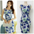 Free shipping Cotton Fabric Round Neck Casual summer dress OL temperament sleeveless Stretch printed dress plus size For Women | Amazing Shoes UK