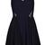 Black Round Neck Sleeveless Lace Chiffon Dress - Sheinside.com
