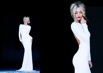 dress white dress white prom dress prom long long prom dress long sleeve dress long sleeves mermaid prom dresses mermaid mermaid wedding dresses backless backless dress backless prom dress