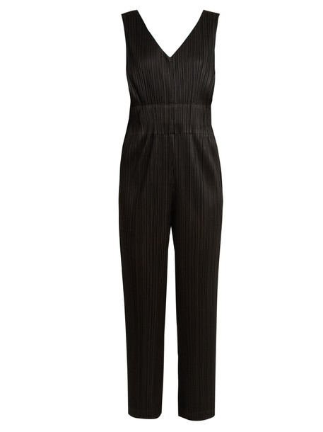 PLEATS PLEASE ISSEY MIYAKE jumpsuit pleated black