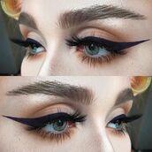 make-up,winged eyeliner