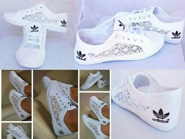 shoes adidas lace sneakers white