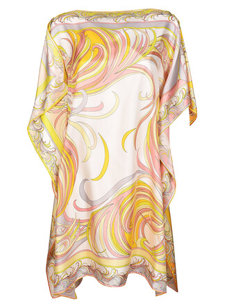 blouse draped multicolor top