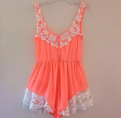 Stitching lace halter rompers · fe clothing · online store powered by storenvy