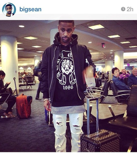 jacket big sean rapper shirt black and white