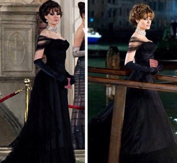 angelina jolie prom dress black angelina jolie the tourist tourist long dress