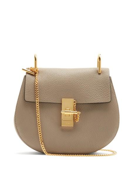 Chloe cross bag leather light grey
