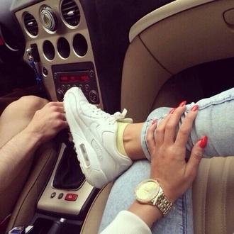 shoes white shoes nike90 white air max