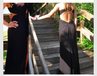 dress prom dress black elegant formal black prom dress evening gown floor length dress openback dress