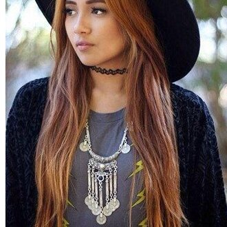 jewels vintage boho boho chic boho jewelry necklace bohemian jewelry layered choker necklace black choker tattoo choker