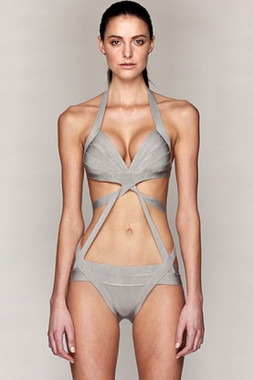 DL Luxury Grey Bandage Swimsuit Wholesale Cheaply