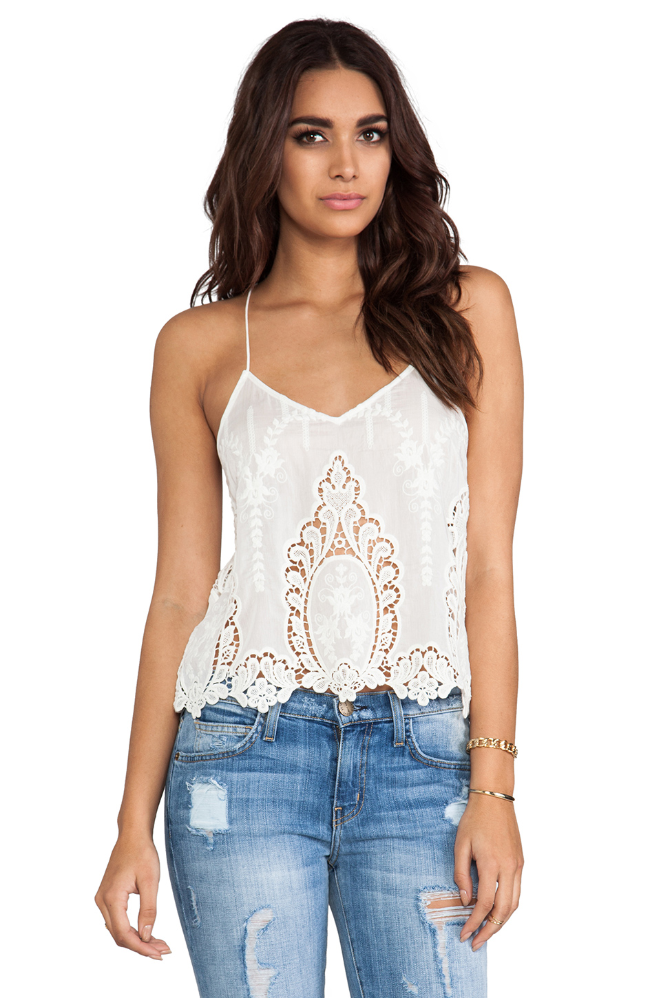 Dolce Vita Sabelle Tank in White & Natural | REVOLVE