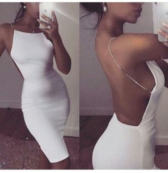dress summer dress cute dress bodycon dress white dress party dress sexy dress short dress clubwear club dress trendy fashion style stylish one piece outfit outfit idea summer outfits cute outfits spring outfits date outfit party outfits backless dress backless