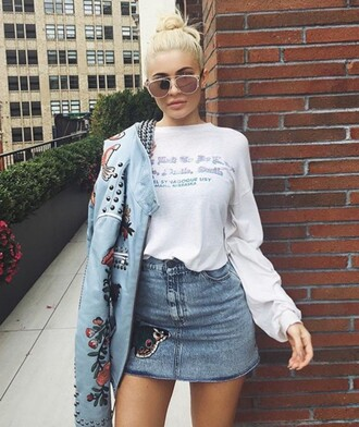 sunglasses glasses sunnies accessories accessory kylie jenner kardashians keeping up with the kardashians ny fashion week 2016 celebrity style celebrity celebstyle for less