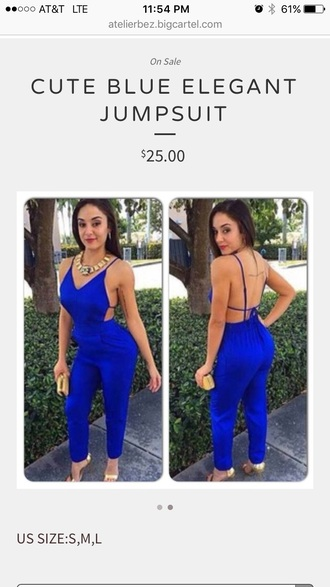 jumpsuit royal blue dress royal blue royal sexy dress style stylish my daily style