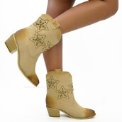 shoes,ankle boots,cowgirl,star studded,booties,spring,summer,fall outfits