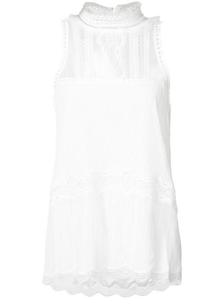 Jonathan Simkhai blouse sleeveless women lace white top