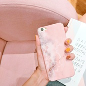 phone cover,girly,pink,iphone cover,iphone case,iphone,marble,marble phone case