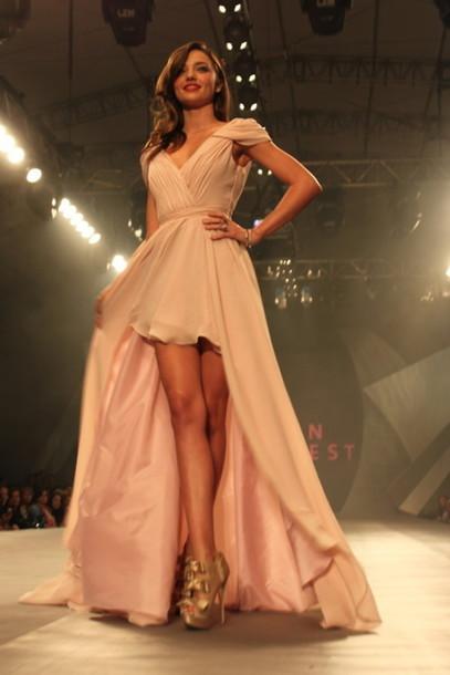 dress miranda kerr rose dress long prom dress prom dress shoes high low dress greek goddess champagne dress
