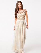 dress,clothes,trendy,boho,champagne,taupe,light,long dress,low back,see through,high waisted,prom,evening outfits,beach,chic,spring,beige dress,skirt,white flower,white dress,prom dress,party dress,gala dress,nice,maxi dress,crochet,cocktail gown,boho maxi dress,club l