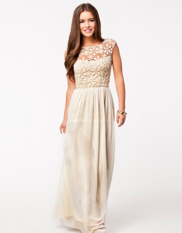 dress clothes trendy boho champagne taupe light long dress low back see through high waisted prom evening outfits beach chic spring beige dress skirt white flower white dress prom dress party dress gala dress nice maxi dress crochet cocktail gown boho maxi dress club l