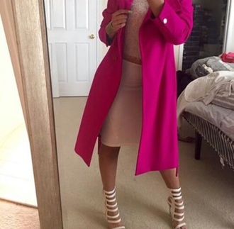 jacket pink pink coat trench coat cute girly